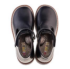 Детские туфли Woopy Orthopedic синие для мальчиков натуральная кожа размер 21-22 (2051) Фото 5