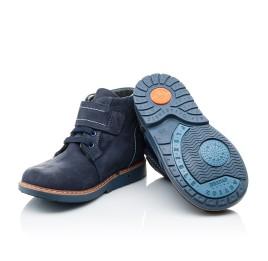 Детские демисезонные ботинки (подкладка кожа) Woopy Orthopedic синие для мальчиков натуральный нубук размер 18-19 (2071) Фото 2