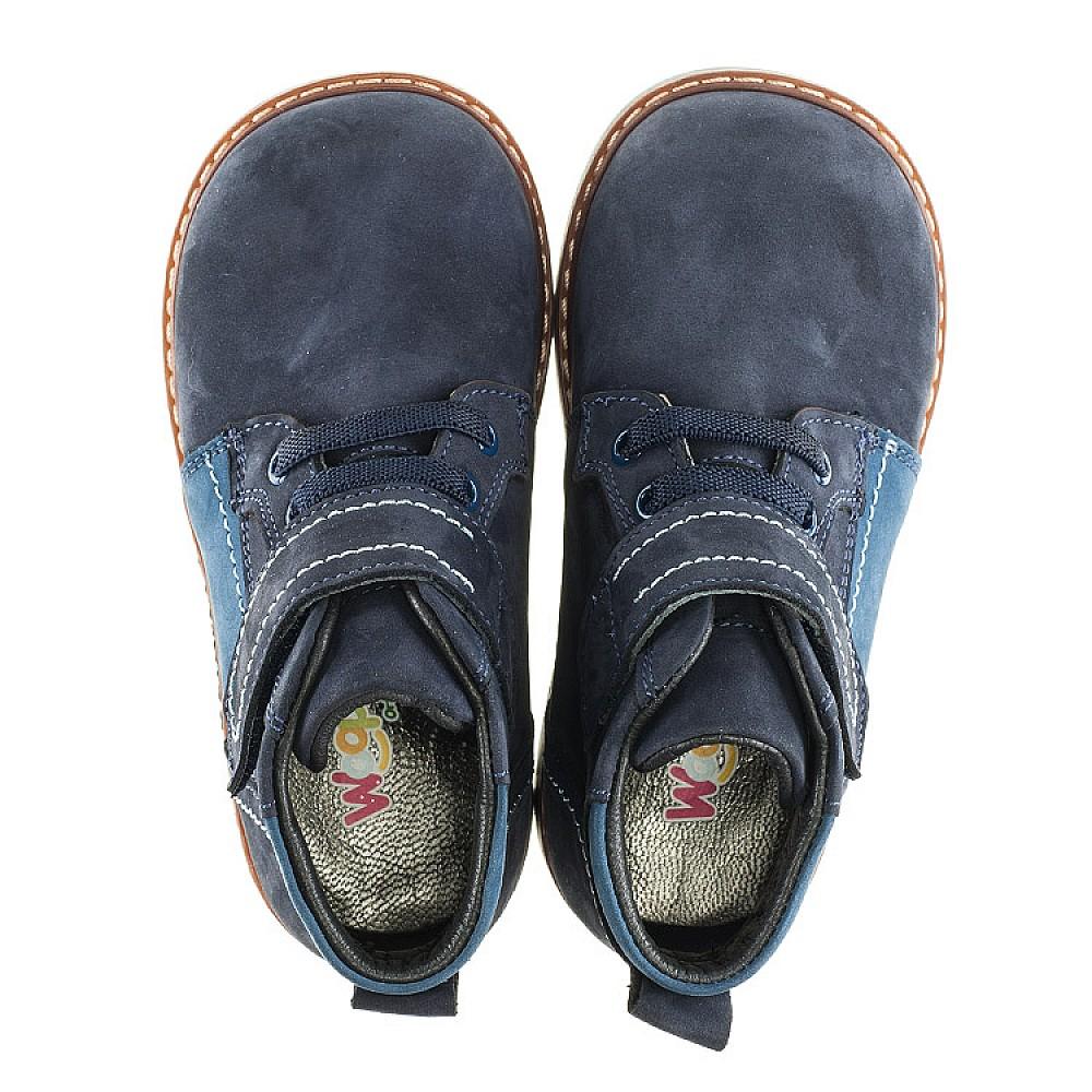Детские демисезонные ботинки (подкладка кожа) Woopy Orthopedic синие для мальчиков натуральный нубук размер 18-25 (2071) Фото 5