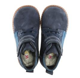 Детские демисезонные ботинки (подкладка кожа) Woopy Orthopedic синие для мальчиков натуральный нубук размер 18-19 (2071) Фото 5