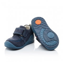 Детские мокасины Woopy Orthopedic синие для мальчиков натуральный нубук размер - (2087) Фото 2