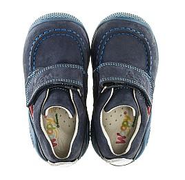Детские мокасины Woopy Orthopedic синие для мальчиков натуральный нубук размер - (2087) Фото 5