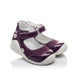 Детские туфли ортопедические Woopy Orthopedic фиолетовые для девочек натуральный нубук размер 18-18 (2088) Фото 1