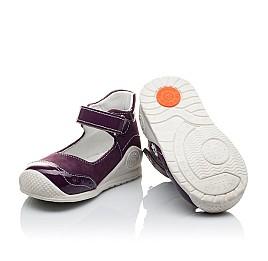 Детские туфли ортопедические Woopy Orthopedic фиолетовые для девочек натуральный нубук размер 18-18 (2088) Фото 2