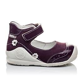 Детские туфли ортопедические Woopy Orthopedic фиолетовые для девочек натуральный нубук размер 18-18 (2088) Фото 3