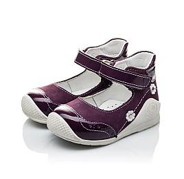 Детские туфли ортопедические Woopy Orthopedic фиолетовые для девочек натуральный нубук размер 18-18 (2088) Фото 4
