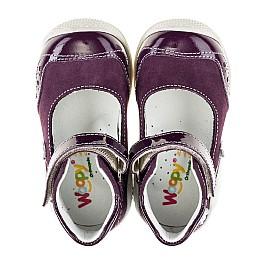 Детские туфли ортопедические Woopy Orthopedic фиолетовые для девочек натуральный нубук размер 18-18 (2088) Фото 5