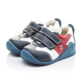 Детские кроссовки Woopy Orthopedic синие, белые, красные для мальчиков натуральная кожа размер 18-18 (2089) Фото 3