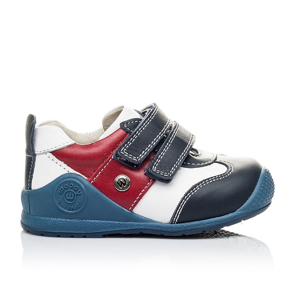 Детские кроссовки Woopy Orthopedic синие, белые, красные для мальчиков натуральная кожа размер 18-21 (2089) Фото 4