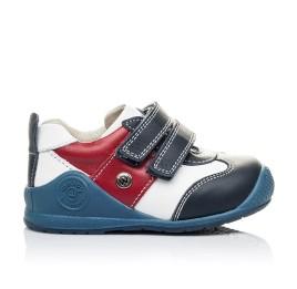 Детские кроссовки Woopy Orthopedic синие, белые, красные для мальчиков натуральная кожа размер 18-18 (2089) Фото 4