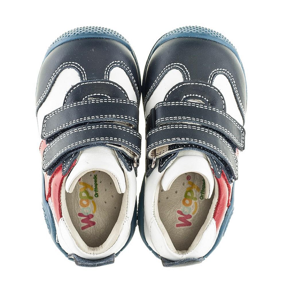 Детские кроссовки Woopy Orthopedic синие, белые, красные для мальчиков натуральная кожа размер 18-21 (2089) Фото 5