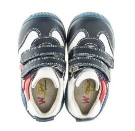 Детские кроссовки Woopy Orthopedic синие, белые, красные для мальчиков натуральная кожа размер 18-18 (2089) Фото 5