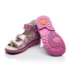 Детские ортопедические босоножки Woopy Orthopedic розовые для девочек натуральная кожа размер - (2092) Фото 2