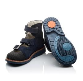 Детские ортопедичні туфлі (з високим берцем) Woopy Orthopedic темно-синие для мальчиков натуральная кожа размер 20-22 (2094) Фото 2