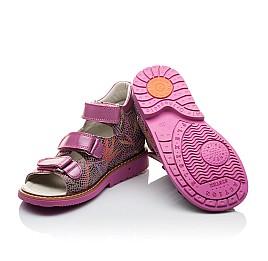 Детские ортопедические босоножки Woopy Orthopedic разноцветные, розовые для девочек натуральная кожа размер - (2096) Фото 2