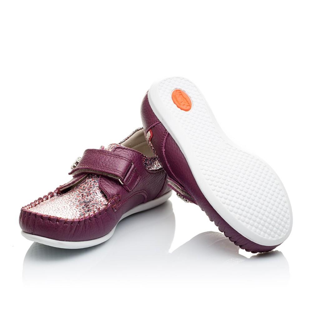 Детские мокасины Woopy Orthopedic фиолетовые для девочек натуральная кожа размер 23-30 (2098) Фото 2
