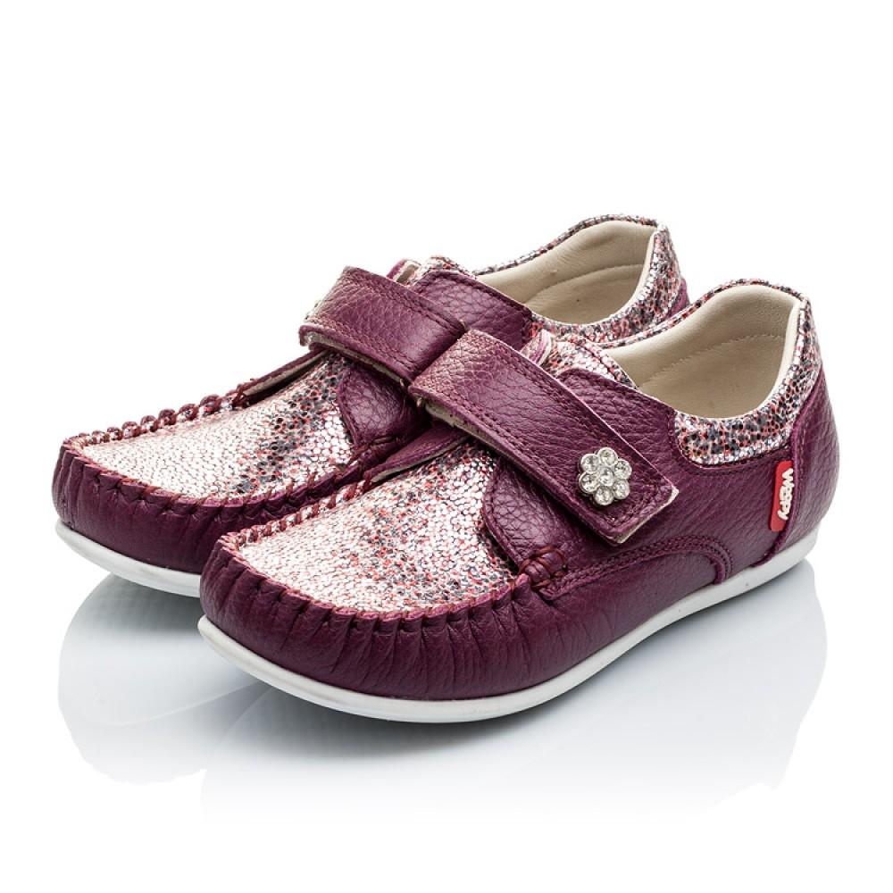 Детские мокасины Woopy Orthopedic фиолетовые для девочек натуральная кожа размер 23-30 (2098) Фото 3