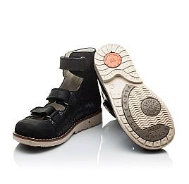 Детские ортопедические туфли (с высоким берцем) Woopy Orthopedic черные для девочек натуральная кожа размер - (2099) Фото 2