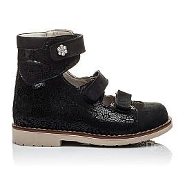 Детские ортопедические туфли (с высоким берцем) Woopy Orthopedic черные для девочек натуральная кожа размер - (2099) Фото 3