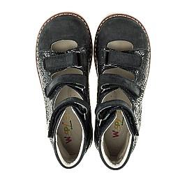 Детские ортопедические туфли (с высоким берцем) Woopy Orthopedic черные для девочек натуральная кожа размер - (2099) Фото 5