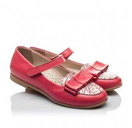 Детские туфлі Woopy Orthopedic коралловые для девочек натуральная кожа размер 26-26 (2102) Фото 1