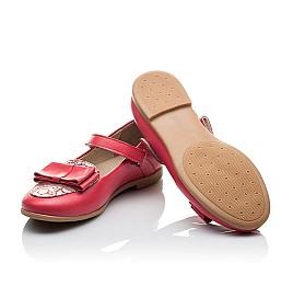 Детские туфлі Woopy Orthopedic коралловые для девочек натуральная кожа размер 26-26 (2102) Фото 2