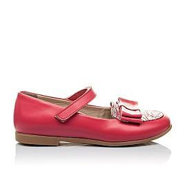 Детские туфлі Woopy Orthopedic коралловые для девочек натуральная кожа размер 26-26 (2102) Фото 3