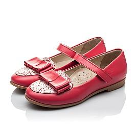 Детские туфлі Woopy Orthopedic коралловые для девочек натуральная кожа размер 26-26 (2102) Фото 4