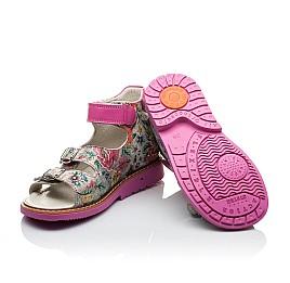 Детские босоножки ортопедические Woopy Orthopedic разноцветные, розовые для девочек натуральная кожа размер - (2107) Фото 2