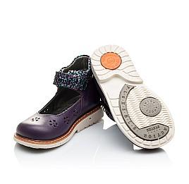 Детские туфли ортопедические Woopy Orthopedic фиолетовые для девочек натуральная кожа размер 21-21 (2109) Фото 2