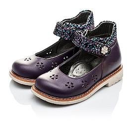Детские туфли ортопедические Woopy Orthopedic фиолетовые для девочек натуральная кожа размер 21-21 (2109) Фото 3