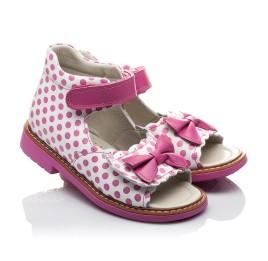 Детские ортопедические босоножки Woopy Orthopedic розовые для девочек натуральная кожа размер - (2110) Фото 1