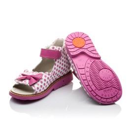 Детские ортопедические босоножки Woopy Orthopedic розовые для девочек натуральная кожа размер - (2110) Фото 2