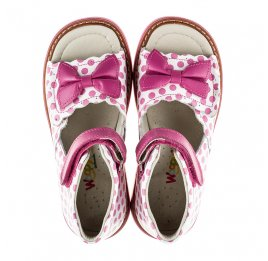 Детские ортопедические босоножки Woopy Orthopedic розовые для девочек натуральная кожа размер - (2110) Фото 5