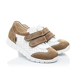 Детские кроссовки Woopy Orthopedic белые, бежевые для девочек натуральный нубук, кожа размер 20-20 (2112) Фото 1