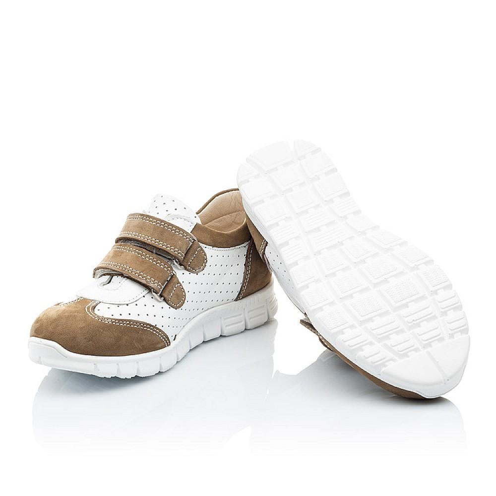 Детские кроссовки Woopy Orthopedic белые, бежевые для девочек натуральный нубук, кожа размер 19-30 (2112) Фото 2