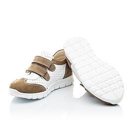 Детские кроссовки Woopy Orthopedic белые, бежевые для девочек натуральный нубук, кожа размер 20-20 (2112) Фото 2