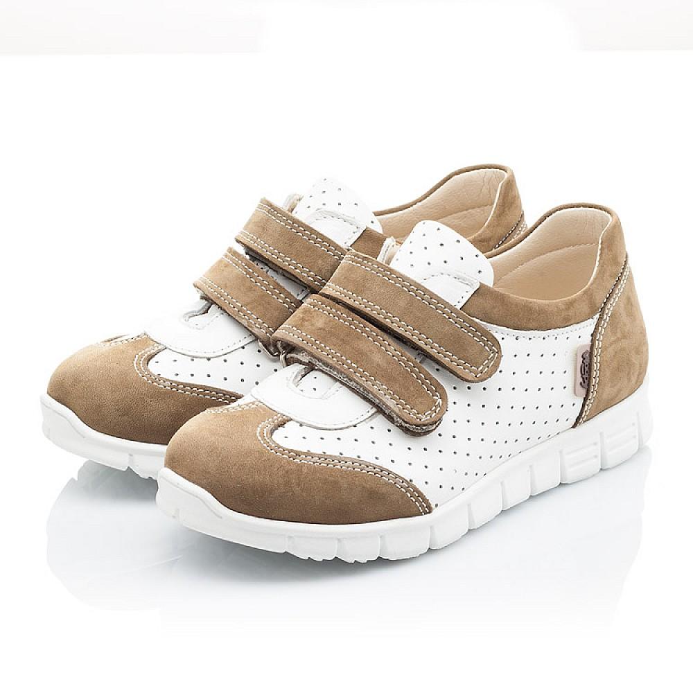 Детские кроссовки Woopy Orthopedic белые, бежевые для девочек натуральный нубук, кожа размер 19-30 (2112) Фото 3