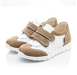 Детские кроссовки Woopy Orthopedic белые, бежевые для девочек натуральный нубук, кожа размер 20-20 (2112) Фото 3