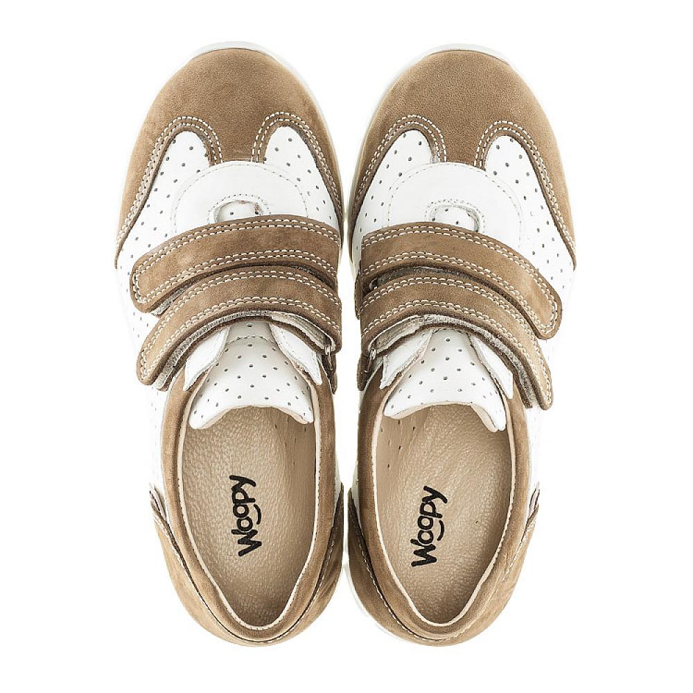 Детские кроссовки Woopy Orthopedic белые, бежевые для девочек натуральный нубук, кожа размер 19-30 (2112) Фото 5