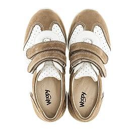 Детские кроссовки Woopy Orthopedic белые, бежевые для девочек натуральный нубук, кожа размер 20-20 (2112) Фото 5