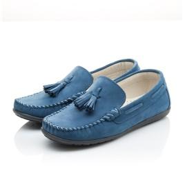 Детские мокасины Woopy Orthopedic синие для мальчиков натуральный нубук размер - (2116) Фото 3