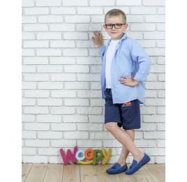 Детские мокасины Woopy Orthopedic синие для мальчиков натуральный нубук размер - (2116) Фото 6