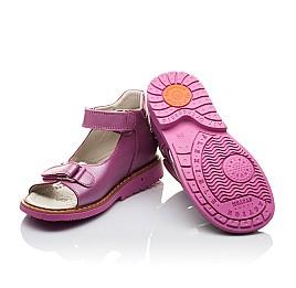 Детские ортопедические босоножки Woopy Orthopedic розовые для девочек натуральная кожа размер - (2129) Фото 2