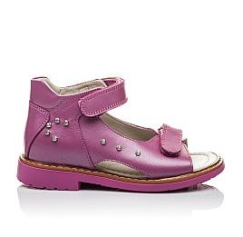 Детские ортопедические босоножки Woopy Orthopedic розовые для девочек натуральная кожа размер - (2129) Фото 3