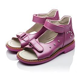 Детские ортопедические босоножки Woopy Orthopedic розовые для девочек натуральная кожа размер - (2129) Фото 4
