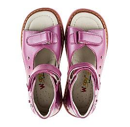 Детские ортопедические босоножки Woopy Orthopedic розовые для девочек натуральная кожа размер - (2129) Фото 5