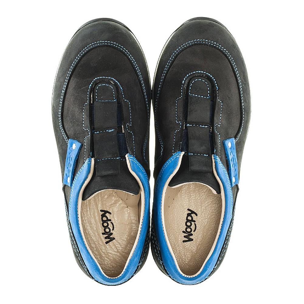 Детские кроссовки Woopy Orthopedic синие для мальчиков натуральный нубук размер 26-35 (2130) Фото 5