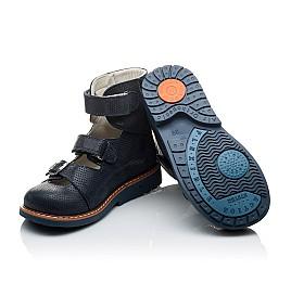 Детские ортопедические туфли (с высоким берцем) Woopy Orthopedic темно-синие для девочек натуральная кожа размер - (2133) Фото 2