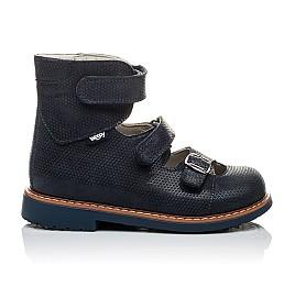 Детские ортопедические туфли (с высоким берцем) Woopy Orthopedic темно-синие для девочек натуральная кожа размер - (2133) Фото 3